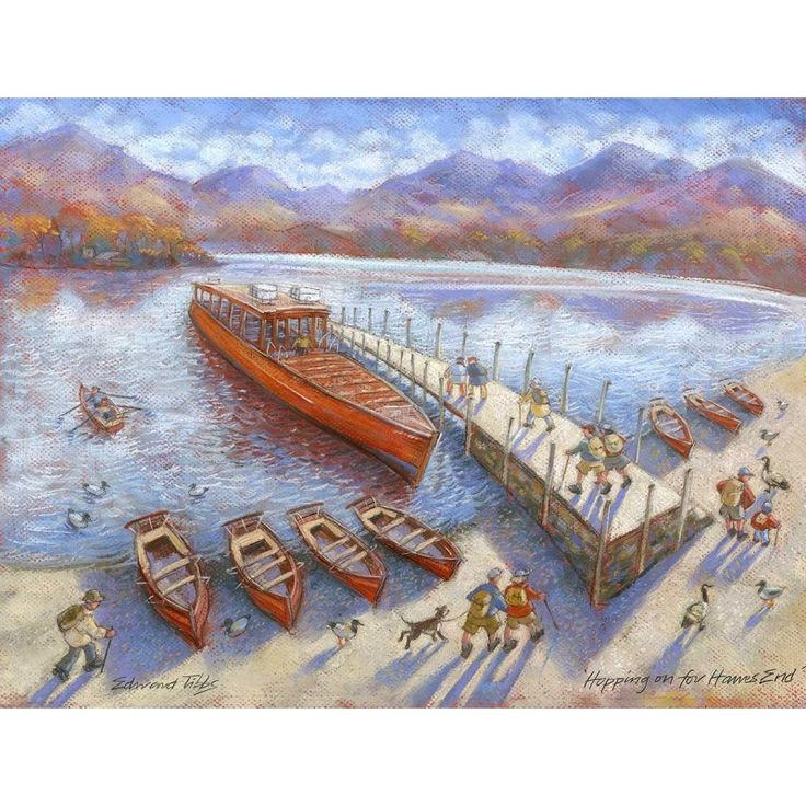 Hopping on for Hawes End signed limited edition print by Edward Tibbs
