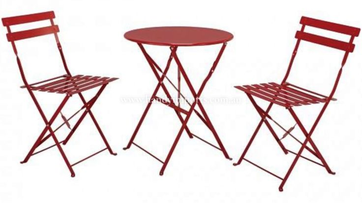 FED Round table and 2 chair set