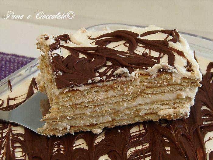 Torta Biscotto mascarpone e nutella - pane e cioccolato