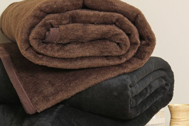 Chocotale Brown and Black Hotel Blankets