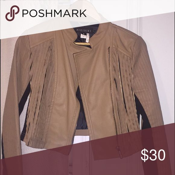 Winter tan leather jacket Camel leather jacket!! Jackets & Coats Utility Jackets
