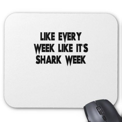 shark mouse pad - funny quote quotes memes lol customize cyo