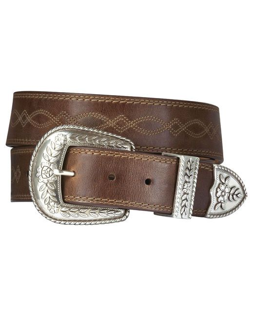 """Women's Fatbaby Belt  $32.95       Fatbaby attitude captured in a belt ready for the town or the arena. Choice of leathers and detailing with lustrous hardware that has a hand-tooled appearance.        Belt Width : 1.5"""""""