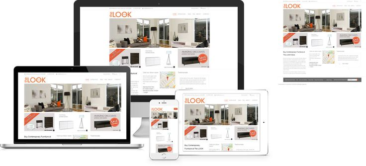 The Look Store - website design by Forge Online