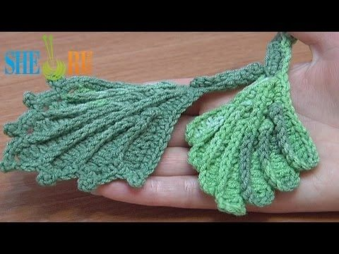 ▶ ‪How To Crochet 3D Leaf Tutorial 11‬‏ - YouTube