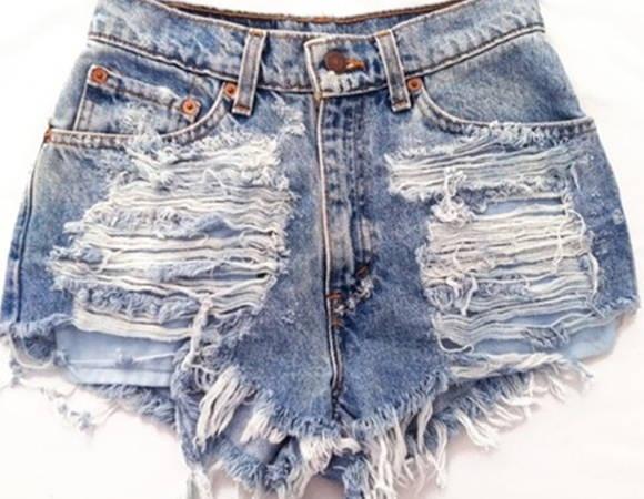 short destruido cintura alta | AS BOLSAS . COM BY ACESSORITIE | 2D09B0 - Elo7