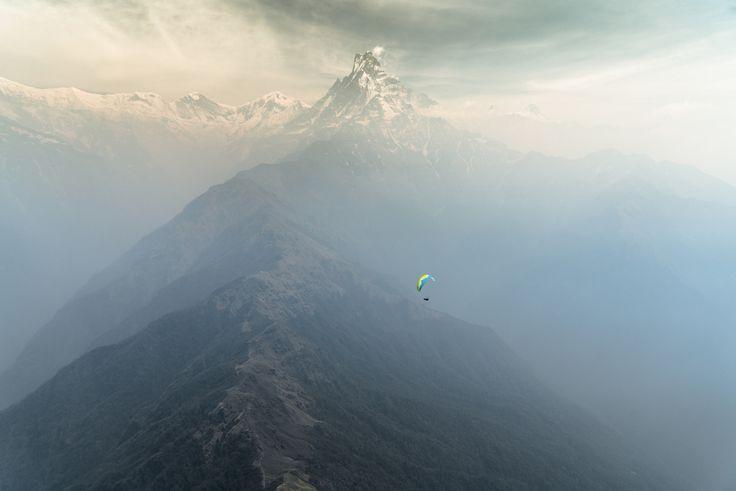 "Cody Tuttle ""Paragliding Annapurna, Himalaya""."