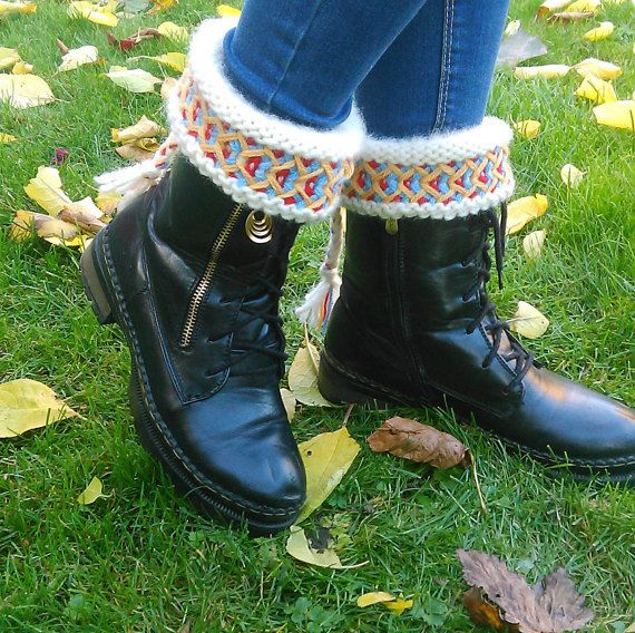 Boot cuffs Swedish Lovikka boot cuffs by JezebelAdrian on Etsy