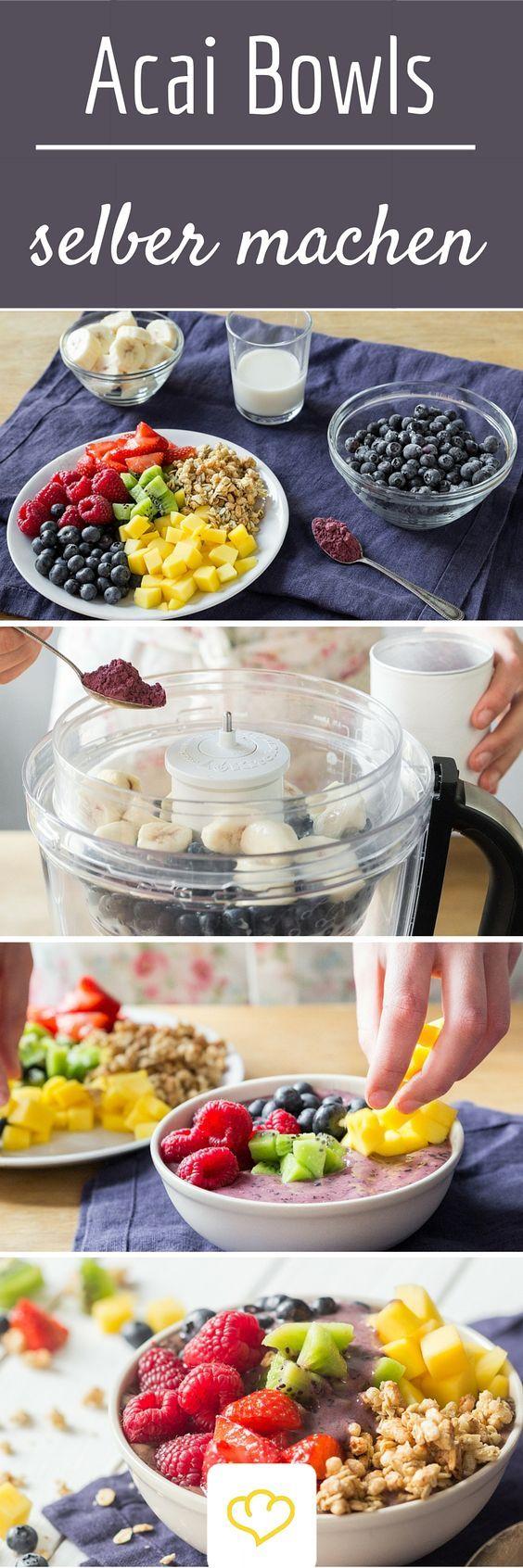 Verpass deinem Frühstück einen Superfood-Boost und gönn dir eine Acai-Bowl! Schritt für Schritt erklärt, wie's geht!