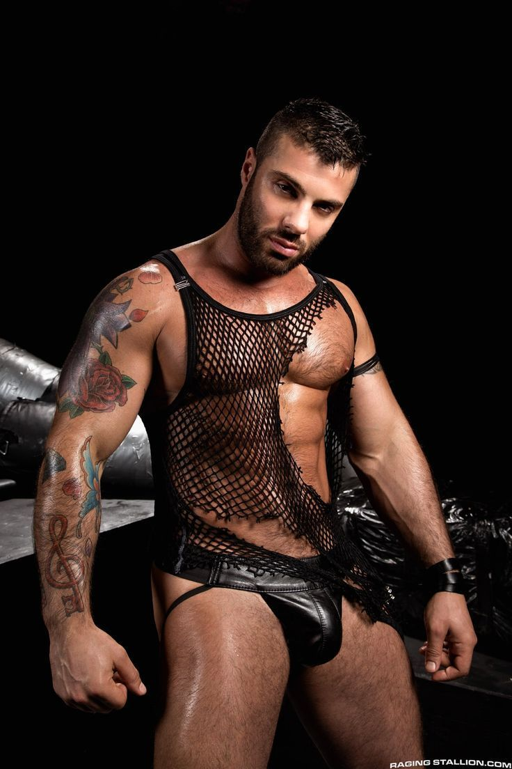 gym men at play leather just sat