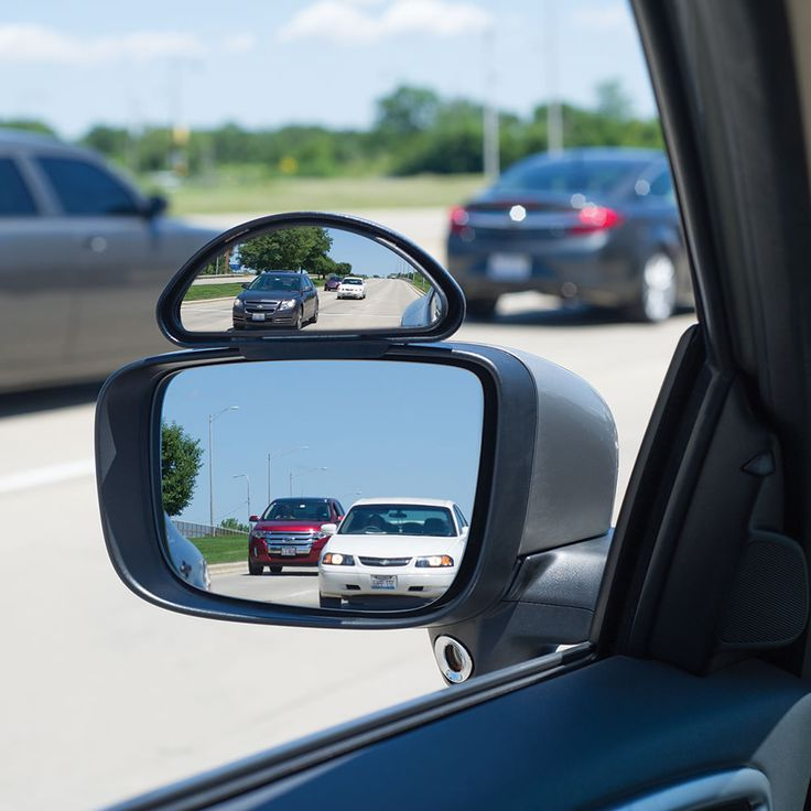 The Blind Spot Eliminator - Hammacher Schlemmer. This is the side view mirror that expands a driver's field of vision 2 1/2X to easily see a car's blind spots. It firmly clamps to a vehicle's existing side mirror using the included hardware without any drilling, enabling motorists to comfortably monitor an extra lane of traffic and the immediate areas around a car's doors without turning or craning.