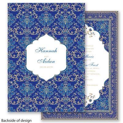 Persian Horizon Wedding Invitation - elegant India Mehndi Farsi ethnic at Invitations By David's Bridal