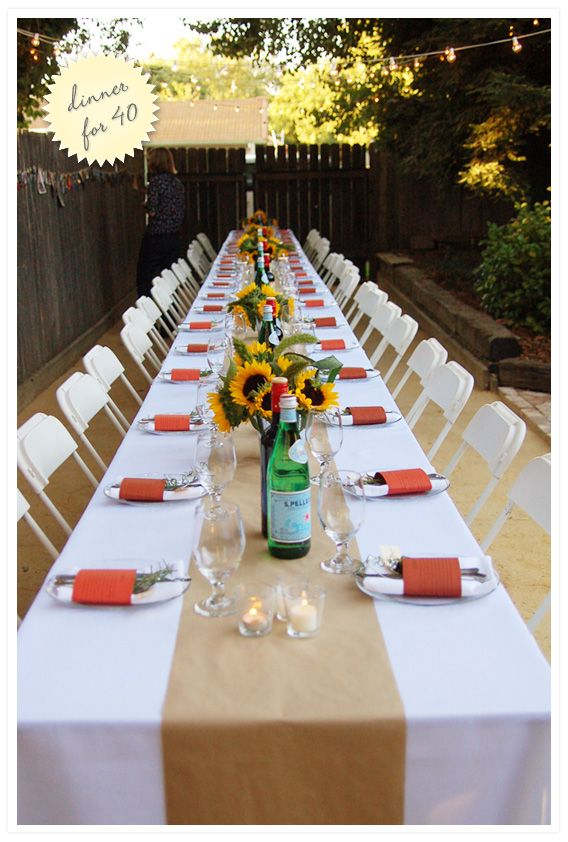 Outside Dinner Party Ideas Part - 16: Best 25 Outdoor Dinner Parties Ideas On Pinterest Dinner