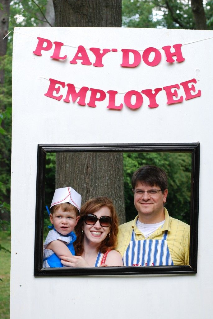 """DSC_0008 Play-Doh factory party picture booth """"Employee of the Month"""""""
