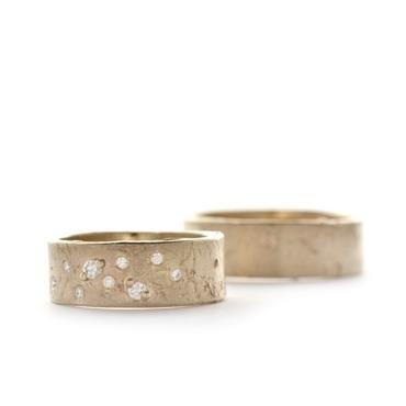 Brede trouwringen met diamanten | Wim Meeussen Goudsmid Antwerpen