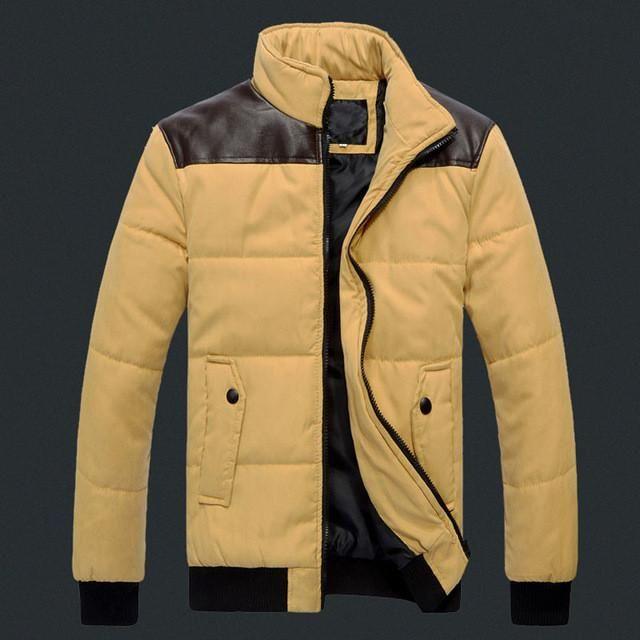 TANGNEST 2017 Hot Sale Winter Warm Down Jacket Casual Slim Patchwork Parka Men Popular Comfortable Winter Jacket Men MWM1397