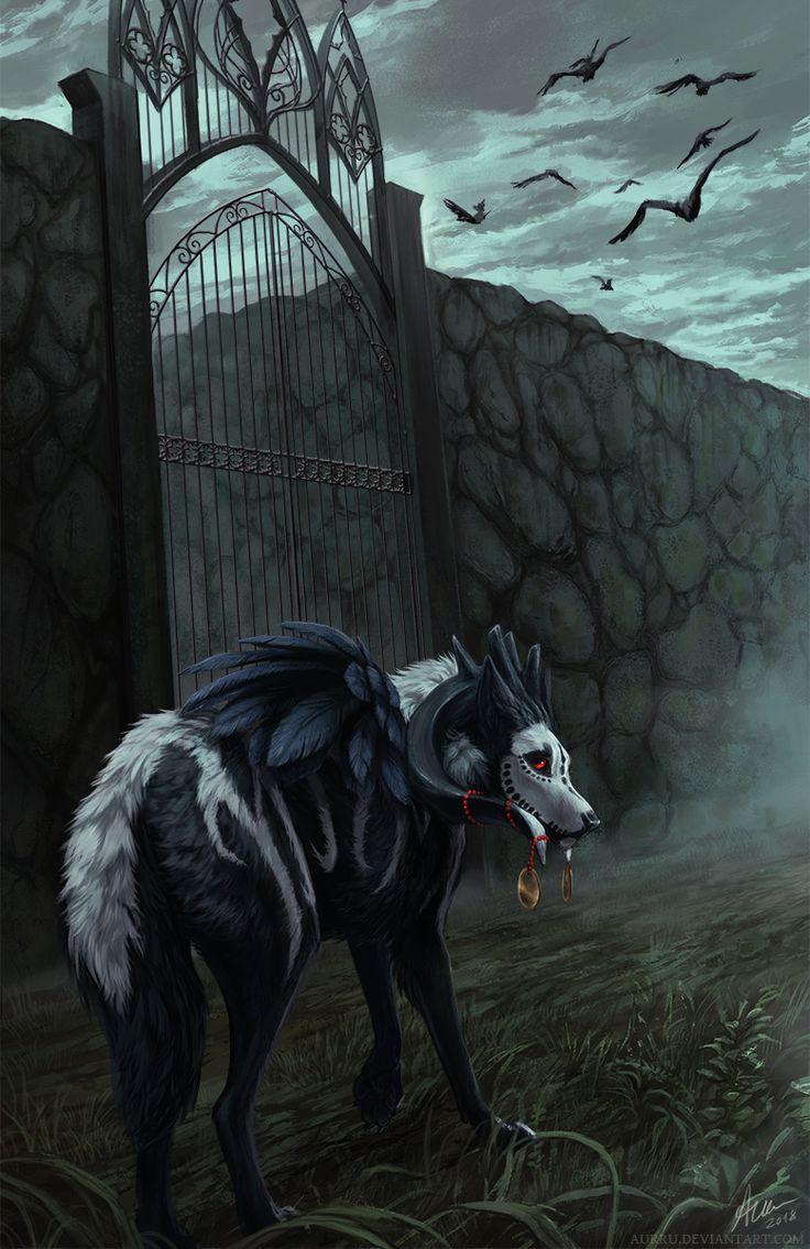 Gatekeeper by Aurru (With images) Dark art illustrations