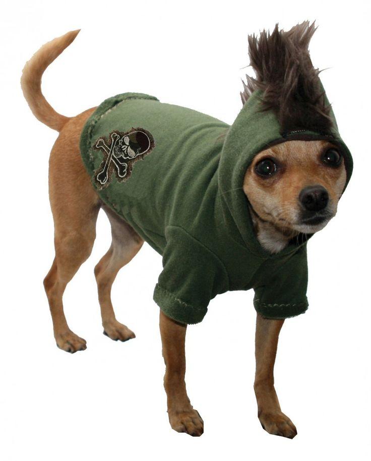 Best Friends World - Hip Doggie Camo Skull Mohawk Hoodie, €25.00 (http://www.bestfriendsworld.ie/hip-doggie-camo-skull-mohawk-hoodie/)