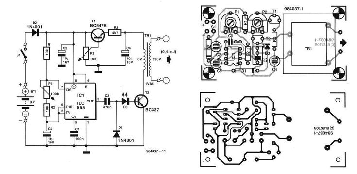Electric Fence Circuit Diagram 12v: Electronic Circuits