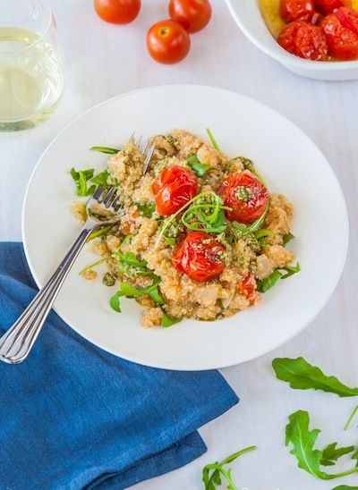 Quinoa Risotto with Roasted Cherry Tomatoes