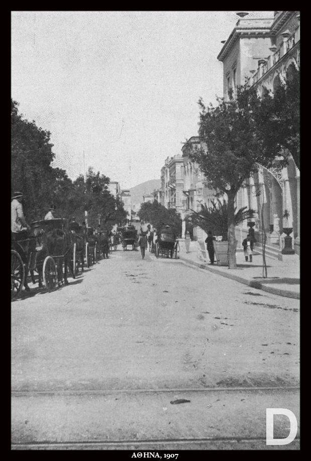 "1907 ~ ""Grand Bretagne"" Hotel at Syntagma square, Athens"