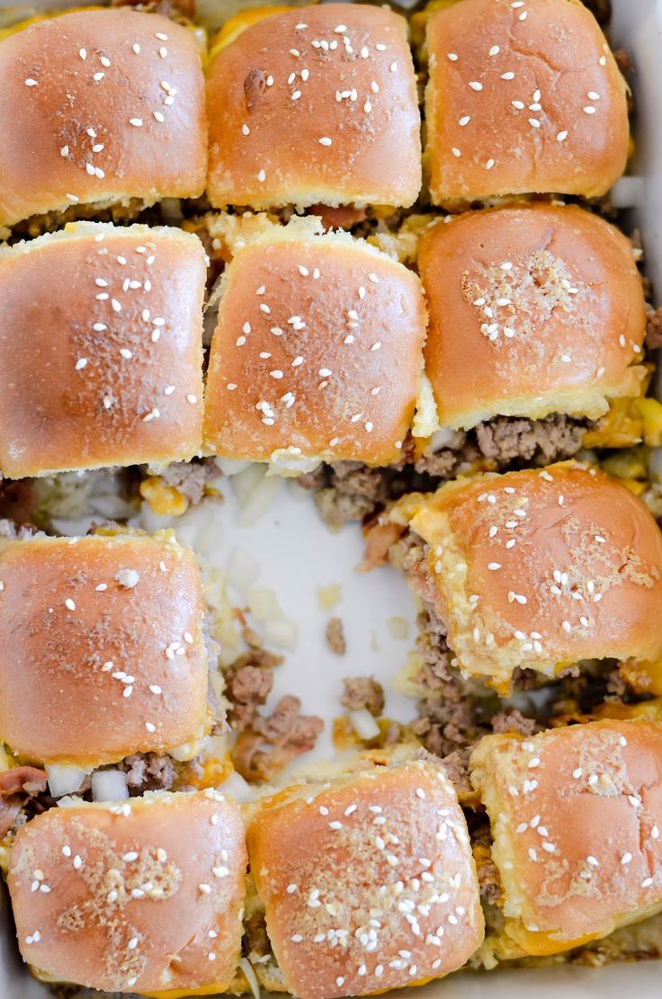These Bacon Cheeseburger Sliders are so easy to throw together for a crowd and perfect for game day!