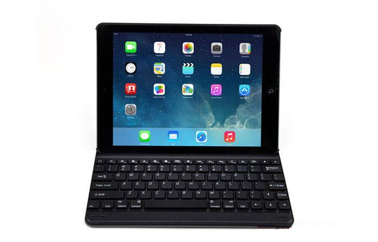 2015 Best Thin Comfortable Aluminum Keyboard With Cases For iPad Air iPad 6 iPad Mini IPCK04_16