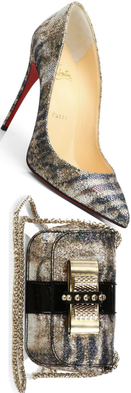 Christian Louboutin Mary Jane Zapatillas plata