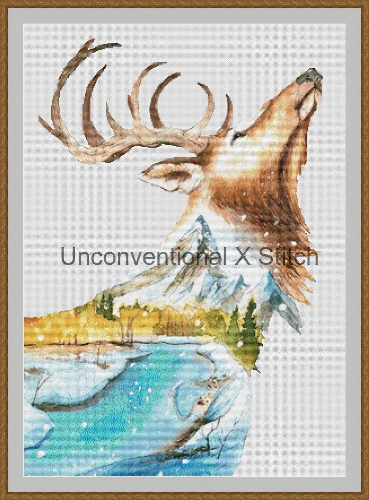 Dear dual exposure cross stitch pattern - Licensed Karita Smevag Halten by UnconventionalX on Etsy