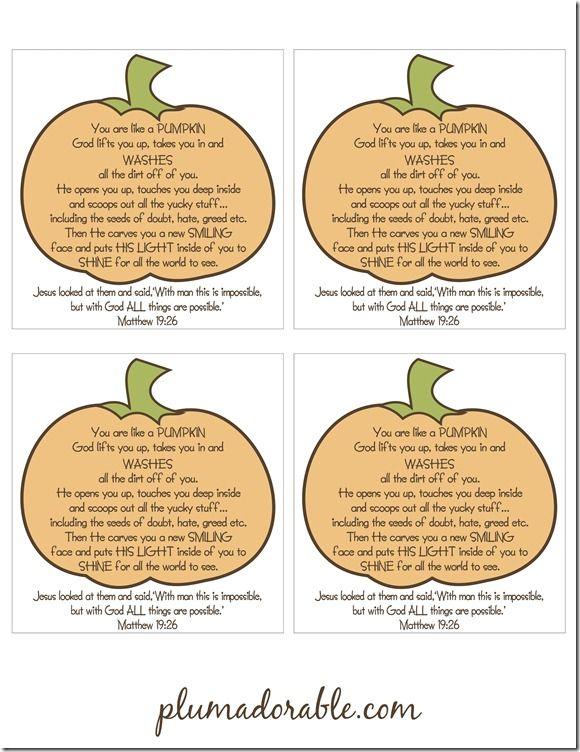 YOU are like a pumpkin!