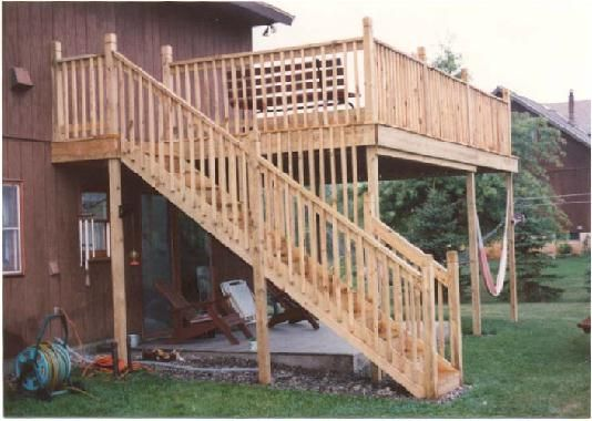 42 best images about deck ideas on pinterest wood decks for Second story decks with stairs