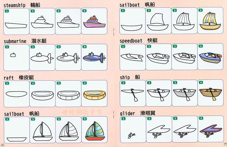 boten tekenen met kleuters, free printable