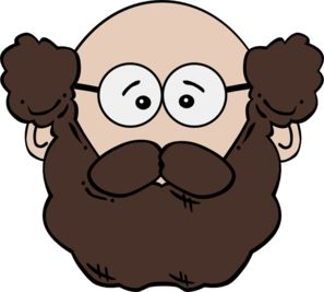 Balding Man With Mustache And Beard clip art - vector clip art online, royalty free & public domain