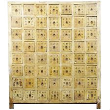 """Antique Chinese Asian Medicine Herb Apothecary Cabinet 56 Draw 49"""" w x 59"""" Tall"""