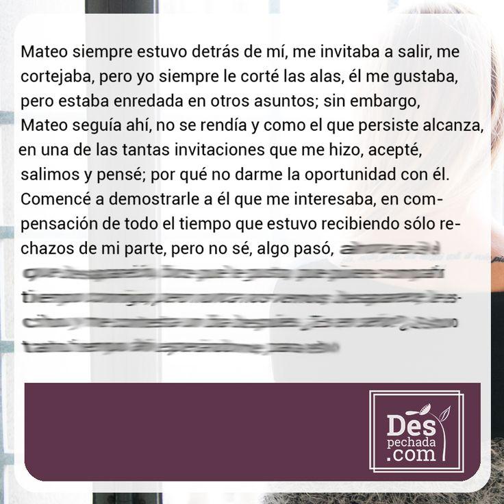 Si quieres saber el final de esta historia, ingresa a www.despechada.com #agritoherido y de paso desahógate.