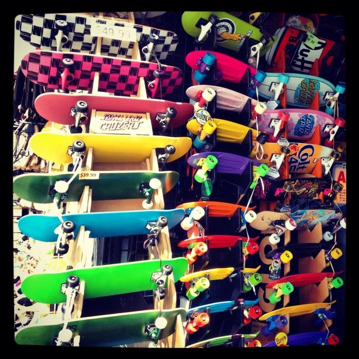 En Venice Beach, Los Angeles    Explosión de color con rueditas...