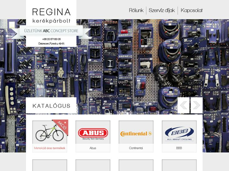 Bicikli bolt honlapja - Webdesign for bicycle shop Kész / Ready http://reginakerekpar.hu/