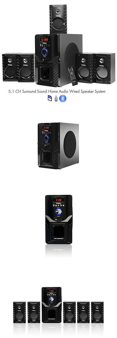 Home Speakers and Subwoofers: Frisby Fs5000bt 800Watt Bluetooth 5.1 Surround Sound Home Theater Speaker System -> BUY IT NOW ONLY: $89.95 on eBay!