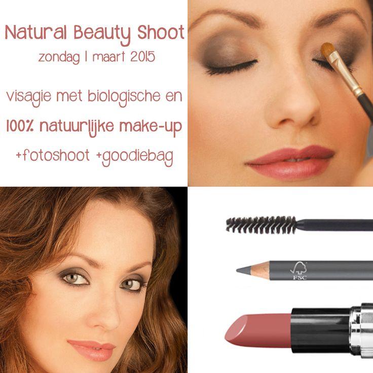 Natural beauty shoot op zondag 01 maart 2015: Visagie met biologische en 100% natuurlijke make-up +portret fotografie +goodiebag #glutenvrij #vegan #dierproefvrij