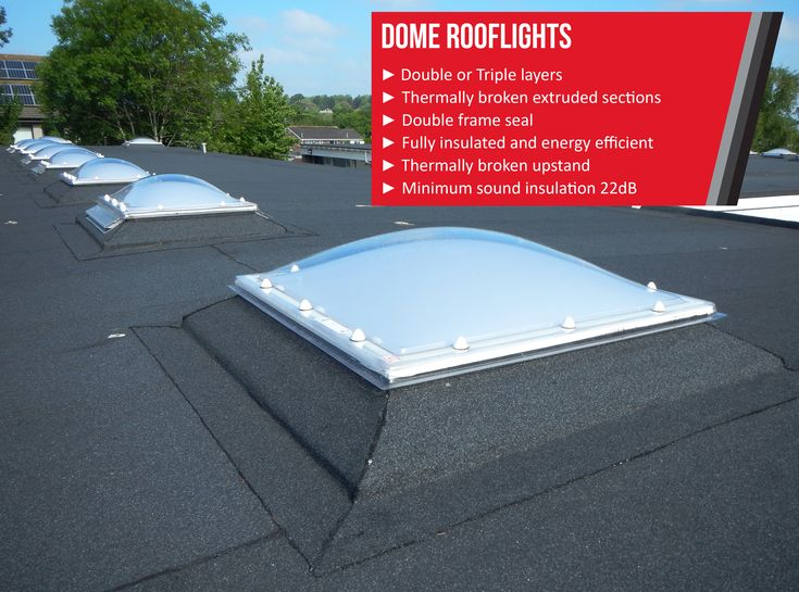 Our Dome Rooflights are designed for those in need of maximum natural light. This flat roof skylight is manufactured to a high standard to ensure the best performance is achieved. Available as a manual or electric opening ventilation skylight, or an ExiDome Access hatch rooflight. Also available as a circular dome and pyramid. #Rooflights #Skylights