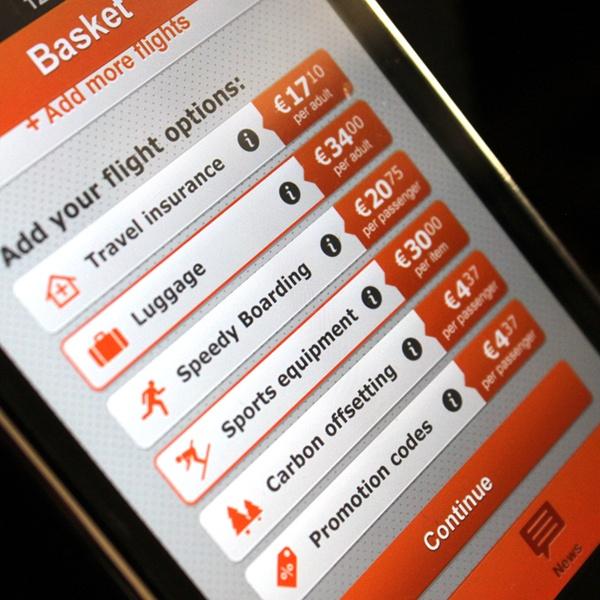 EasyJet iPhone application by Joana Bochecha, via Behance