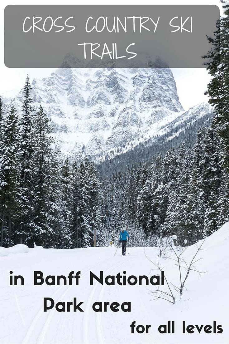 Cross country ski trails in Banff National Park area, Canada for all levels