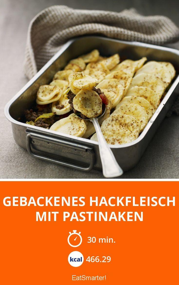 Gebackenes Hackfleisch mit Pastinaken - smarter - Kalorien: 466.29 kcal - Zeit: 30 Min.   eatsmarter.de