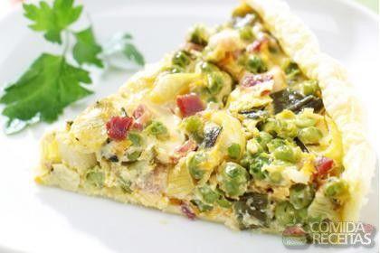 Receita de Torta colorida de legumes - Comida e Receitas