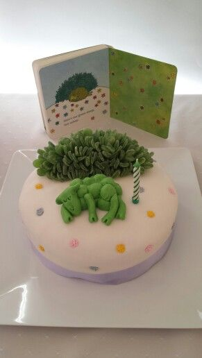 I made this Green Sheep cake for my daughter's first birthday. The shrub was mint leaves sliced in half and stuck into some green fondant points first. The rest was fondant and pre-made flowers.