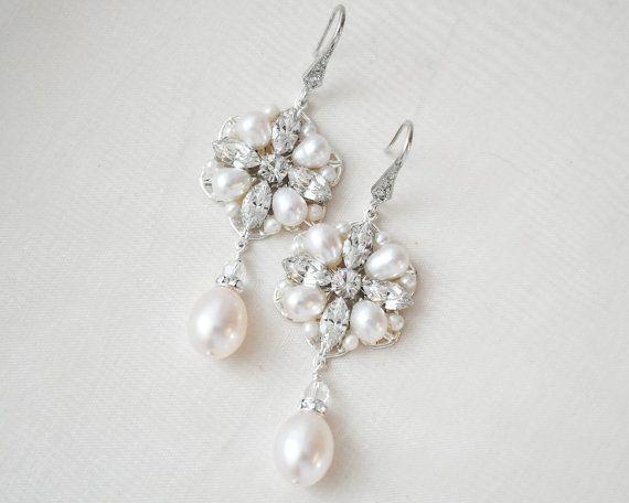 Vinatage-Inspired Art Deco Pearl Chandelier Earrings  (Affiliate)