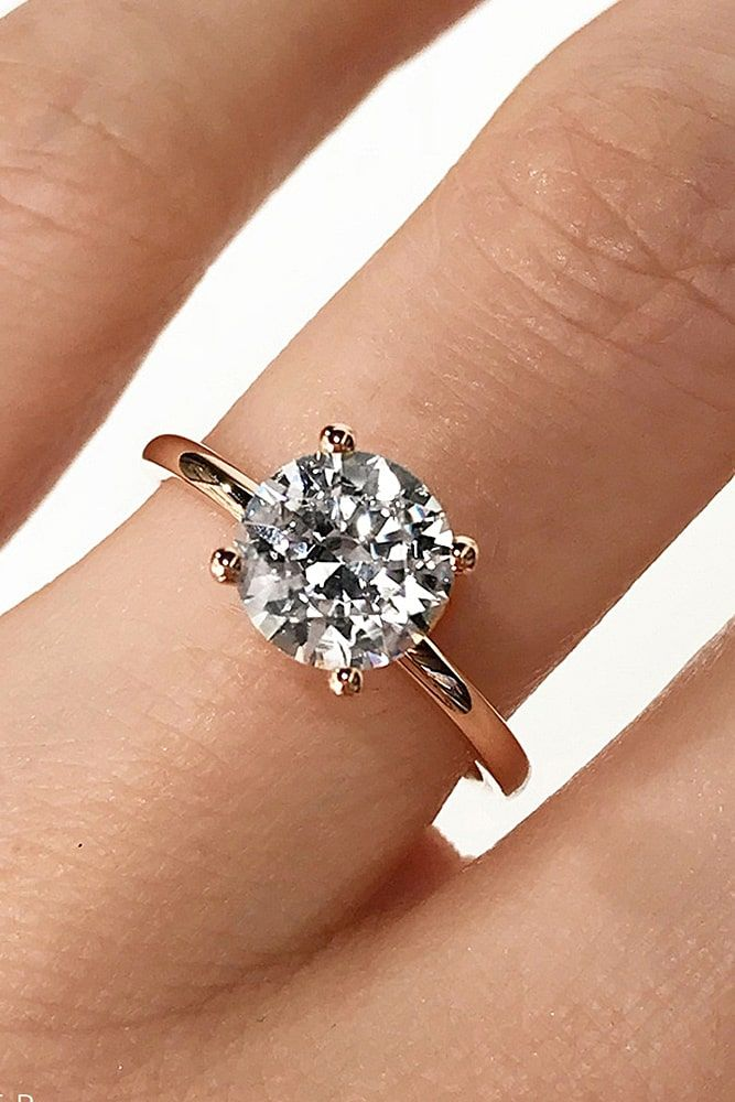 ad239870bfcc1 21 Simple Engagement Rings For Girls Who Love Classic | Amor ...