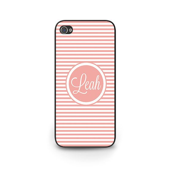 Stripe Personalized Phone Case - Personalized iPhone 5s Case -  Personalized iPhone 6 Case - Personalized iPhone 5c Case - Samsung Galaxy