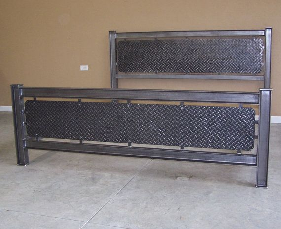 Best 25 steel bed frame ideas on pinterest steel bed for Raw wood bed frame