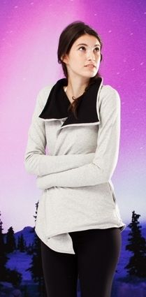 layer this reversible wrap on to stay warm to and from practice. | Count Me In Wrap